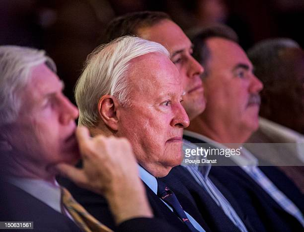 Chairman emeritus Bill Bartholomay of the Atlanta Braves looks on during the Baseball the Civil Rights Movement Roundtable Discussion as part of the...