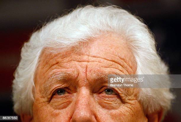 Chairman Frank Lowy addresses the media during a press conference after the Australian Socceroos return from Doha at Sydney International Airport on...