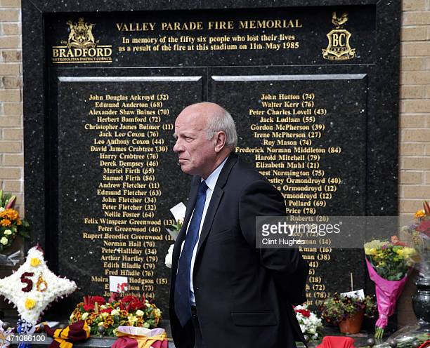 Chairman Greg Dyke after laying a wreath to mark the thirtieth anniversary of the Valley Parade fire during the Sky Bet League One match between...