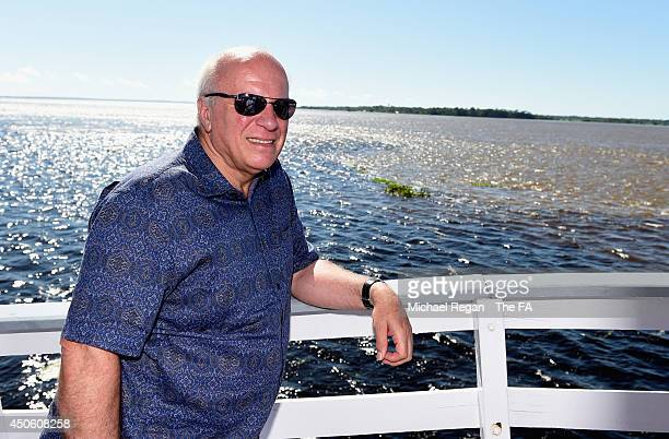 Chairman Greg Dyke looks on during a visit to the 'meeting of the waters' on the Amazon River on June 14, 2014 in Manaus, Brazil.