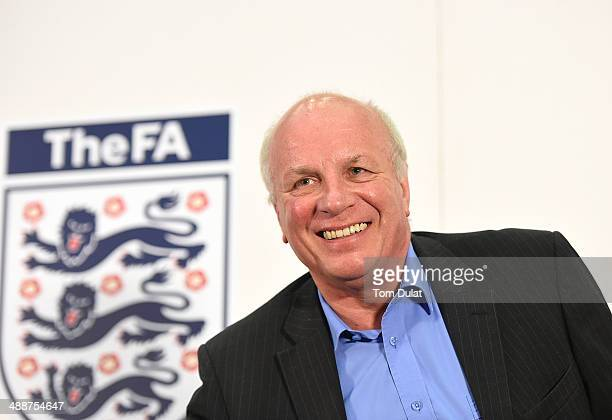 Chairman Greg Dyke smiles during the FA Chairman's England Commission Press Conference at Wembley Stadium on May 8 2014 in London England
