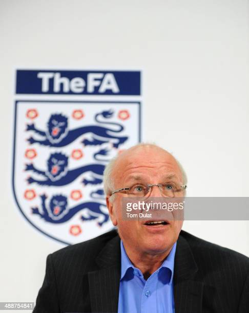 Chairman Greg Dyke speaks during the FA Chairman's England Commission Press Conference at Wembley Stadium on May 8 2014 in London England