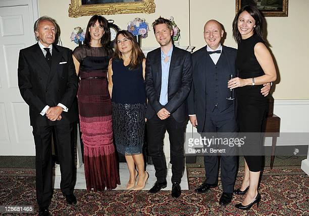 BFC Chairman Harold Tillman British Fashion Council ambassador Samantha Cameron editorinchief of British Vogue Alexandra Shulman Chief Creative...