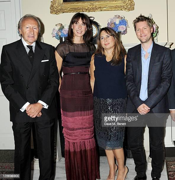 BFC Chairman Harold Tillman British Fashion Council ambassador Samantha Cameron editorinchief of British Vogue Alexandra Shulman and Chief Creative...