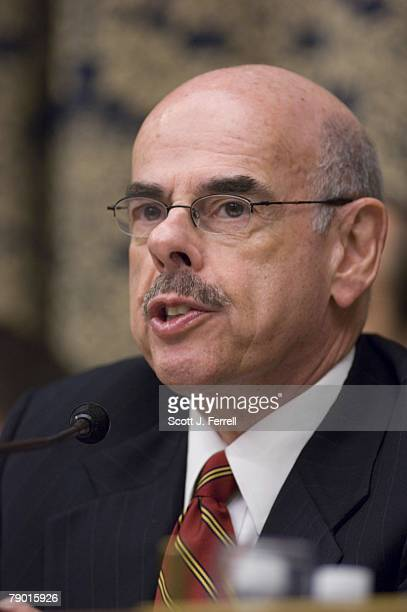 Chairman Henry A Waxman DCalif during the House Oversight and Government Reform Committee hearing on a report by former Sen George Mitchell who...
