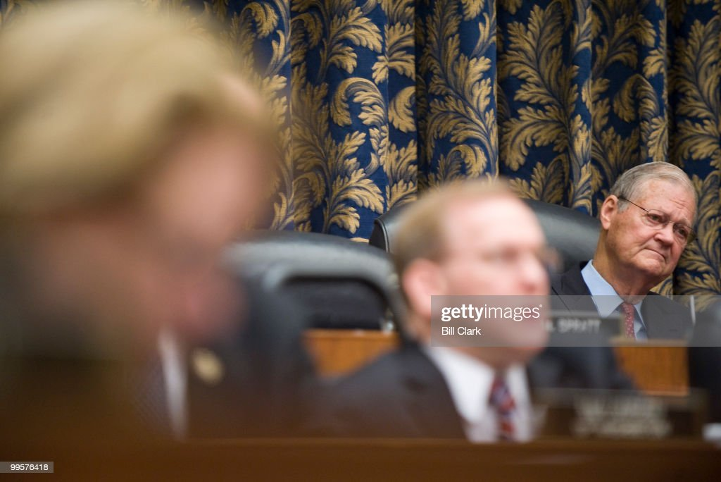 Chairman Ike Skelton, D-Mo., listens to testimony from Gen. David Petraeus, commander of the U.S. Central Command, during the House Armed Services Committee hearing on the new strategy for Afghanistan and Pakistan on Thursday, April 2, 2009.
