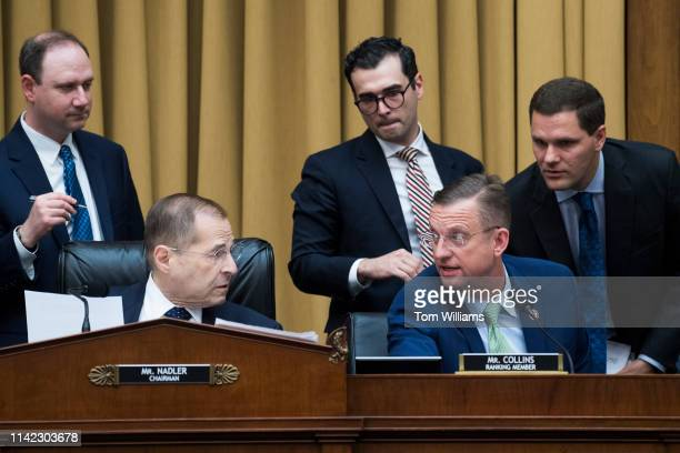 Chairman Jerrold Nadler DNY and ranking member Rep Doug Collins RGa conduct a House Judiciary Committee markup in Rayburn Building on Wednesday May 8...