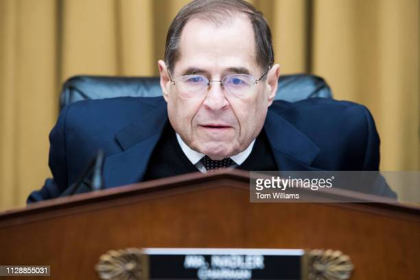 Chairman Jerrold Nadler DNY is seen before a House Judiciary Committee hearing titled Protecting Dreamers and TPS Recipients in Rayburn Building on...