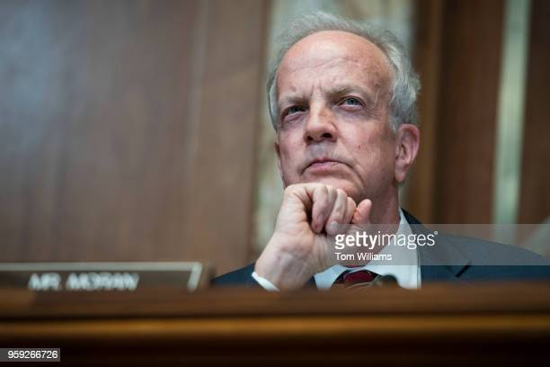 Chairman Jerry Moran RKan conducts a Senate Appropriations Commerce Justice Science and Related Agencies Subcommittee hearing in Dirksen Building on...