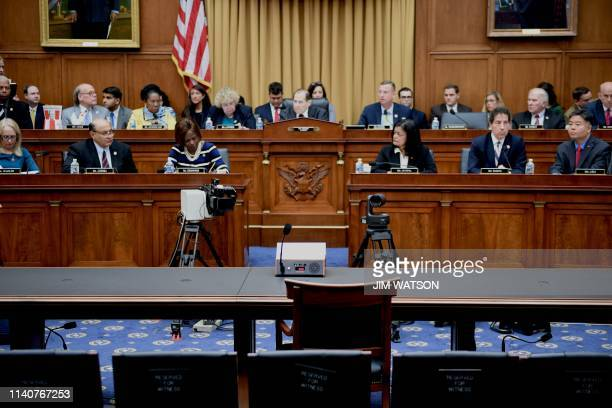 Chairman Jerry Nadler speaks as US Attorney General Bill Barr fails to attend a hearing before the House Judiciary Committee on Capitol Hill in...