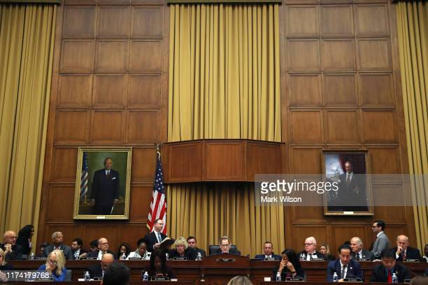Chairman Jerry Nadler conducts a House Judiciary Committee markup on September 12 2019 in Washington DC The full committee voted and passed a...