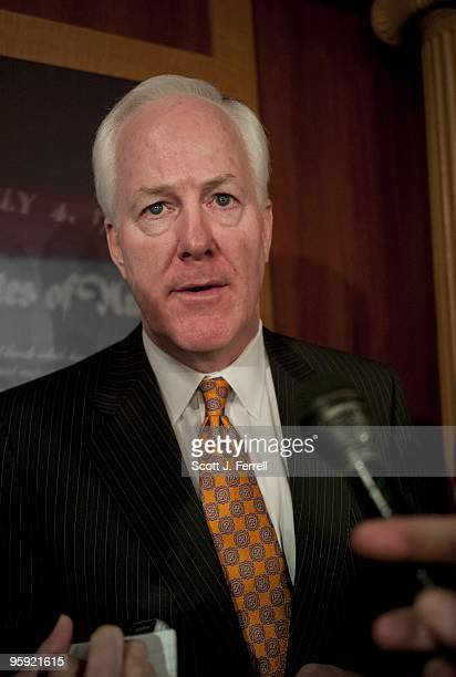 NRSC Chairman John Cornyn RTexas after a news conference on Republican Scott Brown's upset victory in Tuesday's election for a Senate seat from...