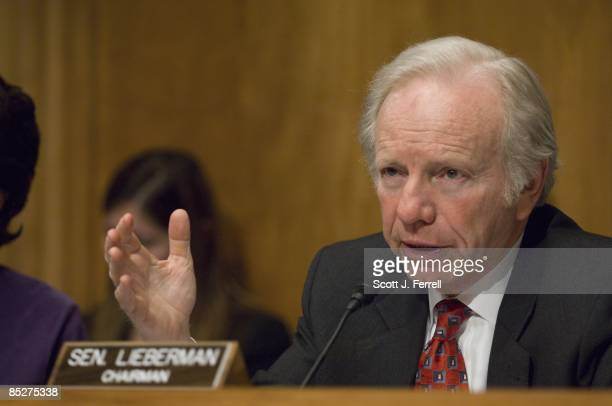 March 04: Chairman Joseph I. Lieberman, I-Conn., during the Senate Homeland Security and Governmental Affairs hearing on how the federal government...