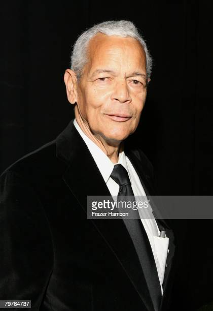 Chairman Julian Bond poses backstage at the 39th NAACP Image Awards held at the Shrine Auditorium on February 14, 2008 in Los Angeles, California.