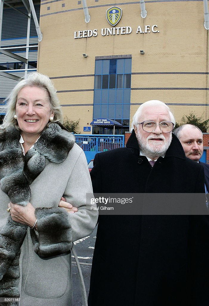 Chairman Ken Bates of Leeds United arrives with his wife for a press conference at Elland Road Stadium on January 27, 2005 in Leeds, England.