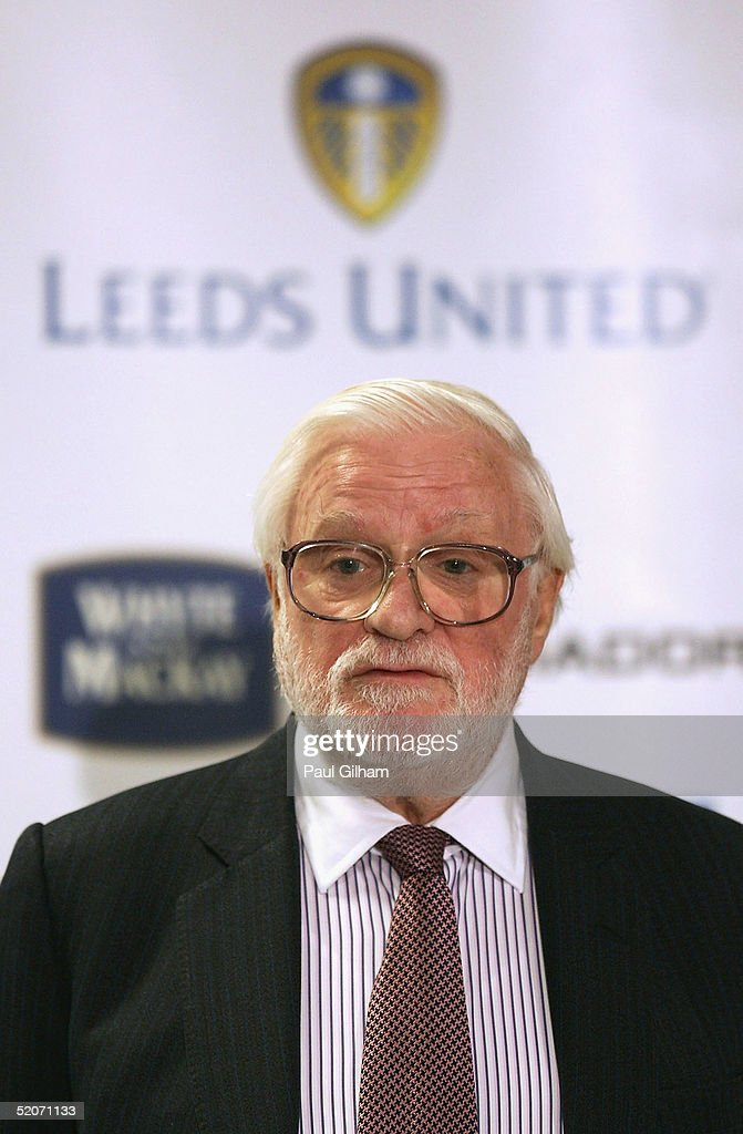 Chairman Ken Bates of Leeds United talks to the press during a press conference at Elland Road Stadium on January 27, 2005 in Leeds, England.