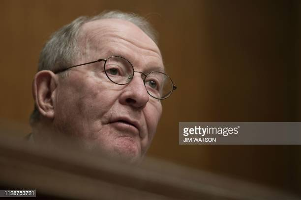 Chairman Lamar Alexander RTN speaks during a hearing for the Senate Committee on Health Education Labor and Pensions on Capitol Hill in Washington DC...