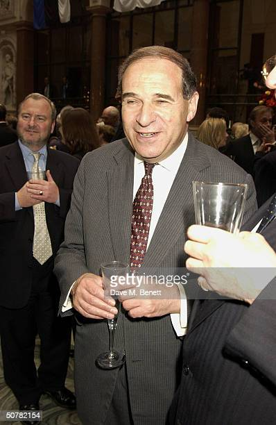 EU Chairman Leon Britain attend the VIP party to celebrate the EU Enlargement and Unification of Europe held at the Foreign and Commonwealth Office...