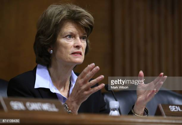 Chairman Lisa Murkowski speaks during a Senate Energy and Natural Resources Committee hearing on hurricane recovery efforts in Puerto Rico and the US...