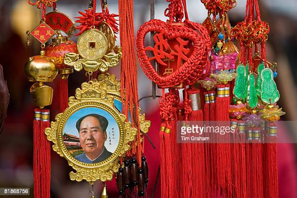 chairman mao souvenirs, china - mao tsé toung stockfoto's en -beelden