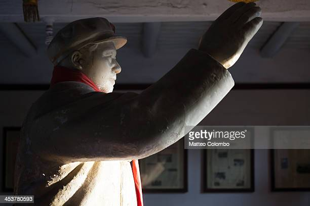 CONTENT] Chairman Mao Zedong statue inside a room in the newspaper museum of Pingyao Shanxi China September 2013