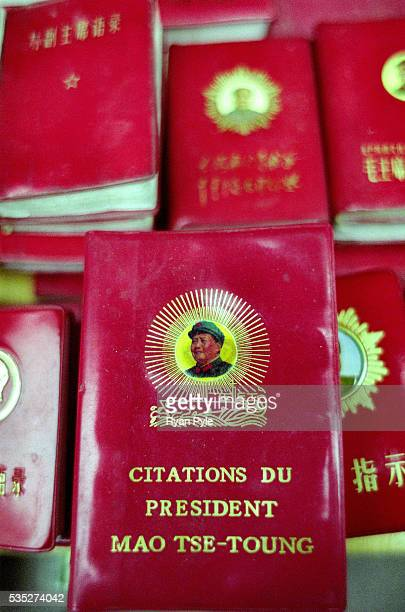 Chairman Mao's little Red Book is on sale at the Dongtai Lu Antique Marktet Shanghai is China's largest and most dynamic city It's modern and ever...