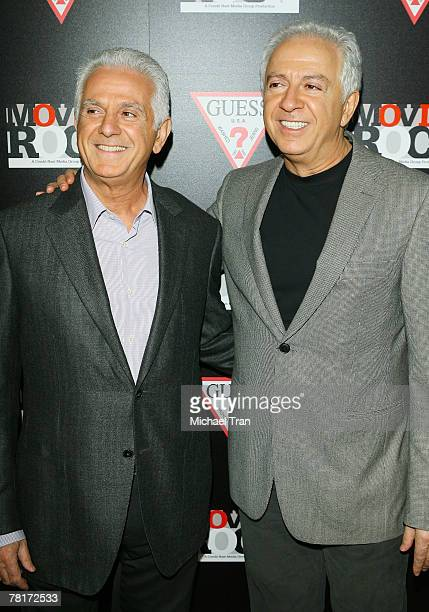 Chairman Maurice Marciano and GUESS CEO Paul Marciano arrives at the Guess and Conde Nast 'Movie Rocks' Kick Off party held at St Vibiana's Cathedral...