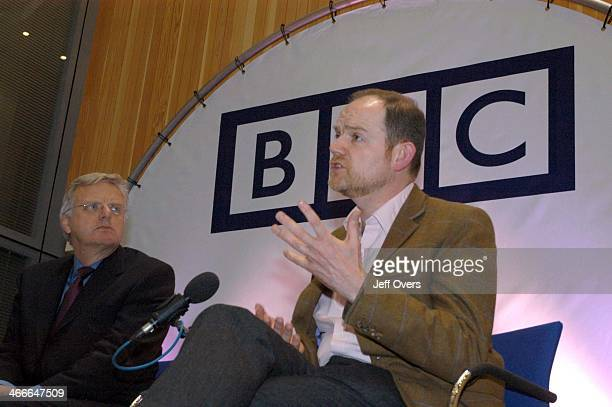 BBC Chairman Michael Grade with Mark Thompson the man who will replace Greg Dyke as Director General of the British Broadcasting Corporation Channel...
