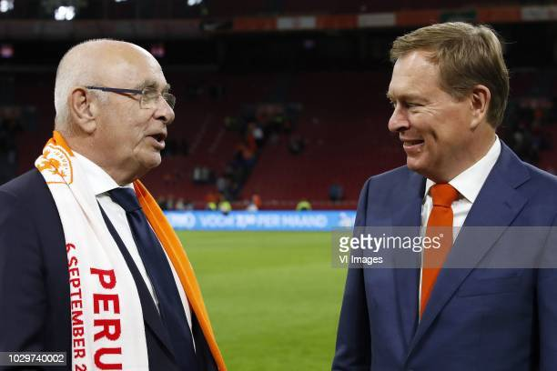 Chairman Michael van Praag, Minister for Medical Care and Sport Bruno Bruins during the International friendly match match between The Netherlands...