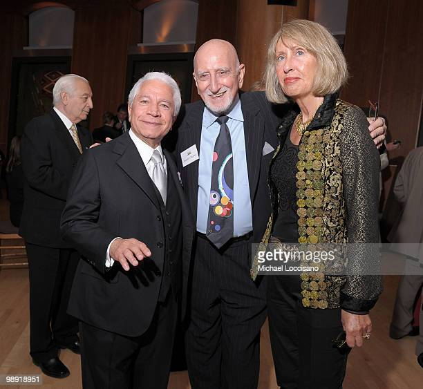 NECO Chairman Nasser Kazeminy actor Dominic Chianese and wife Jane Pittson attend the precelebration reception for the 25th annual Ellis Island...