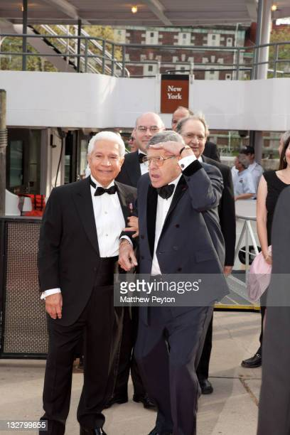 Chairman Nasser Kazeminy and Honoree and Actor/Comedian Jerry Lewis attends the Ellis Island Medals of Honor sponsored by NECO National Ethnic...