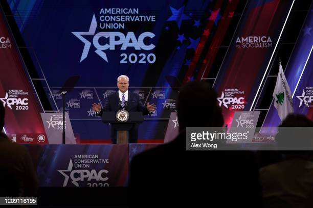 Chairman of American Conservative Union Matt Schlapp speaks during the annual Conservative Political Action Conference at Gaylord National Resort...