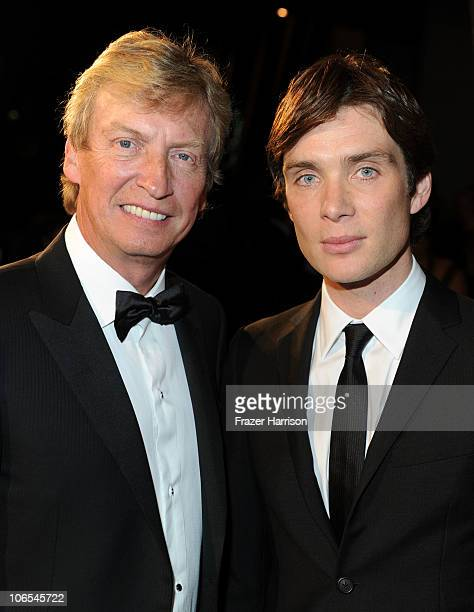 Chairman of BAFTA Los Angeles Nigel Lythgoe and actor Cillian Murphy arrive at the BAFTA Los Angeles 2010 Britannia Awards held at the Hyatt Regency...
