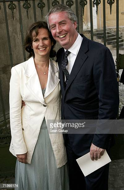 Chairman of Bertelsmann Entertainment Rolf SchmidtHolz anf his wife Monika attend the wedding of German TV host Guenther Jauch at the Friedenskirche...
