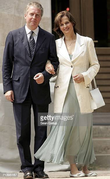 Chairman of Bertelsmann Entertainment Rolf SchmidtHolz anf his wife Monika attend the wedding of German TV host Guenther Jauch at the Belvedere...