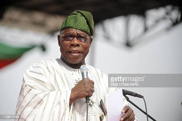 Chairman of Board of Trustees of the ruling Peopel's democratic arty and former President Olusegun Obasanjo speaks on President Goodluck Jonathan and...