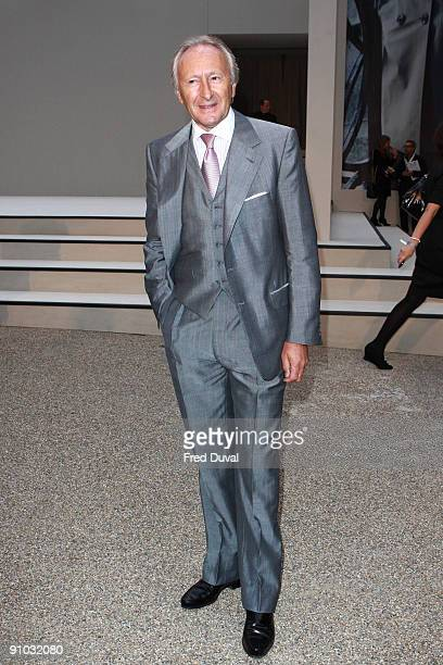 Chairman of British Fashion Council Harold Tillman C at Burburry's Closing party of London Fashion Week Spring Summer 2010 Arrivals on September 22...