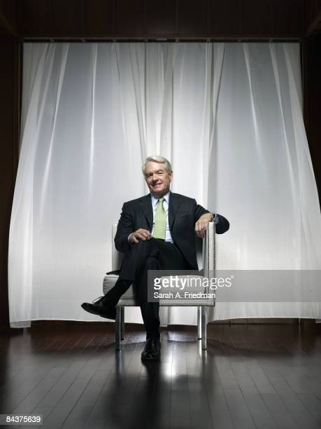 Chairman of Charles Schwab Charles Schwab poses at a portrait session in New York City for Fortune Magazine Published image
