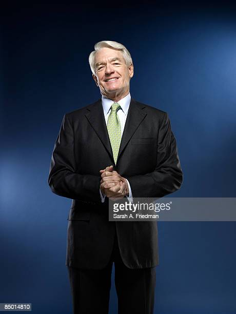Chairman of Charles Schwab Charles Schwab poses at a portrait session in New York City for Fortune Magazine