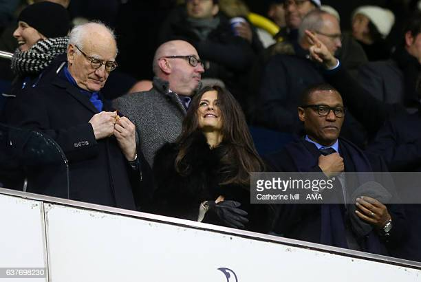 Chairman of Chelsea Bruce Buck stands with Club director Marina Granovskaia and technical director Michael Emenalo during the Premier League match...