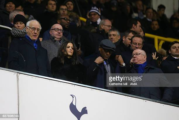 Chairman of Chelsea Bruce Buck stands with Club director Marina Granovskaia technical director Michael Emenalo and David Barnard director / club...