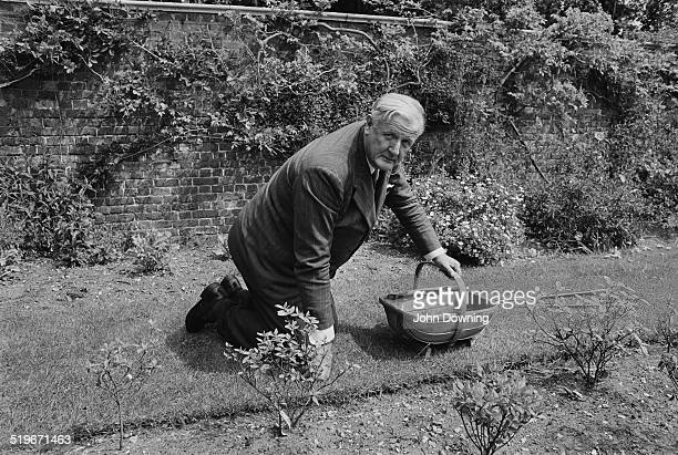 Chairman of Daily Mirror Newspapers Sunday Pictorial Newspapers and International Publishing Corporation Cecil Harmsworth King in the garden of his...