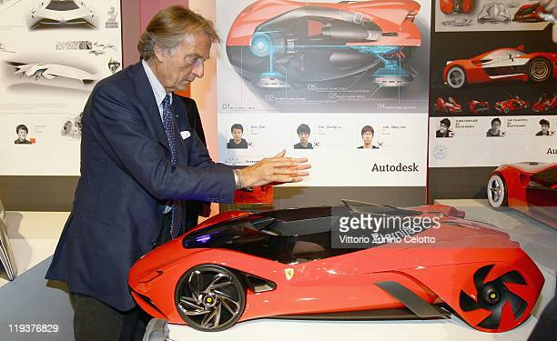 Chairman of Ferrari SpA Luca Cordero Di Montezemolo attends the Ferrari World Design Contest on July 19 2011 in Maranello Italy The Ferrari World...