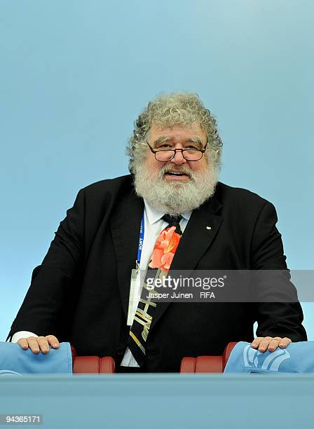 Chairman of FIFA Club World Cup organising committee Chuck Blazer looks on prior to the start of the FIFA Club World Cup quarterfinal match between...