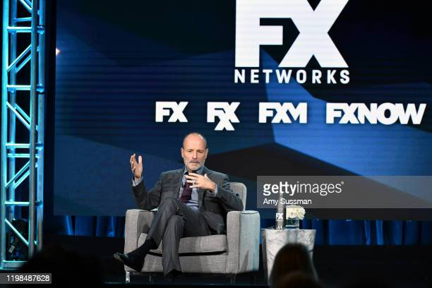 Chairman of FX Network and FX Productions John Landgraf speaks during the FX segment of the 2020 Winter TCA Tour at The Langham Huntington, Pasadena...