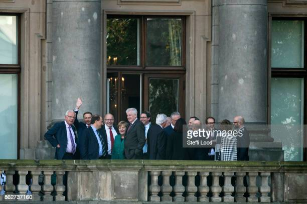 Chairman of German Free Democratic Party Christian Lindner Count Alexander Lambsdorff Head of the Federal Chancellery Peter Altmaier Chancellor...
