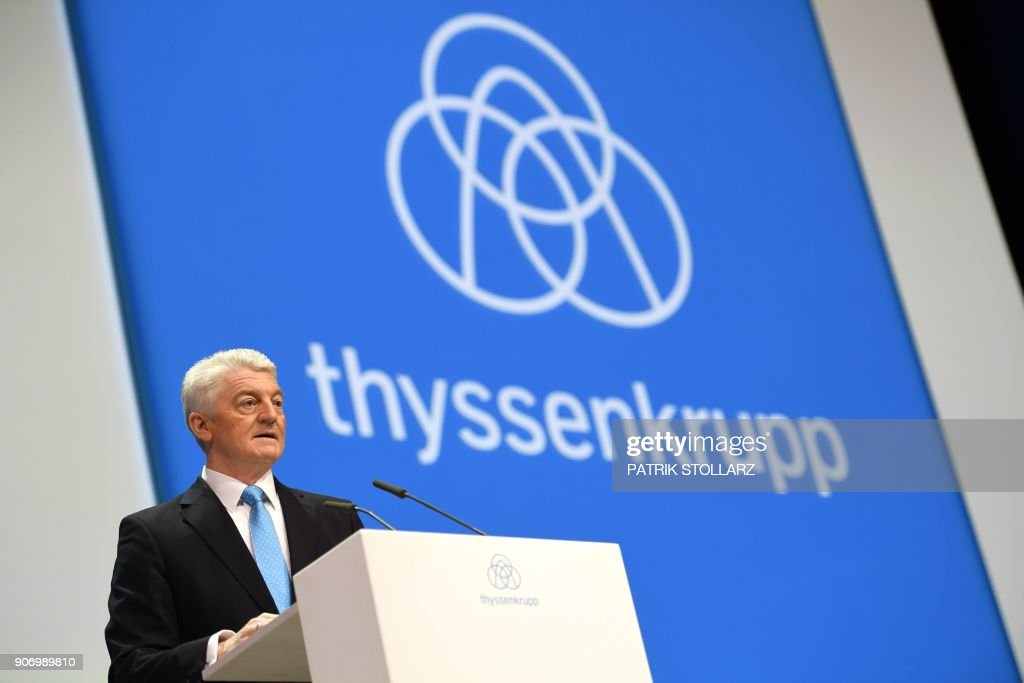 ThyssenKrupp annual shareholders meeting in Bochum