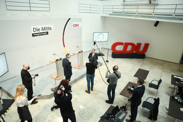DEU: Armin Laschet Holds First Press Conference Since Election As New CDU Leader