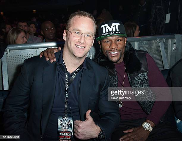 Chairman of Glory Pierre Andurand and Floyd Mayweather Chairman of GLORY Sports International GLORY12 at The Theater at Madison Square Garden on...