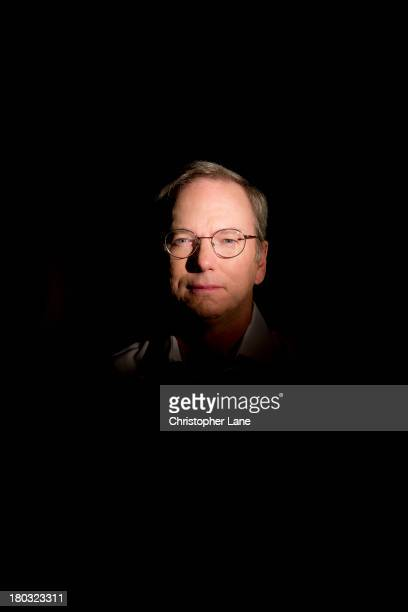 Chairman of Google Eric Schmidt is photographed for The Guardian Newspaper on April 5 in New York City
